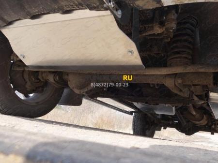 UAZ Patriot 2015-Защита рулевых тяг (алюминий) 4мм